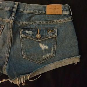 Gilly Hicks Shorts - Gilly Hicks Sydney Distressed denim shorts Size 2